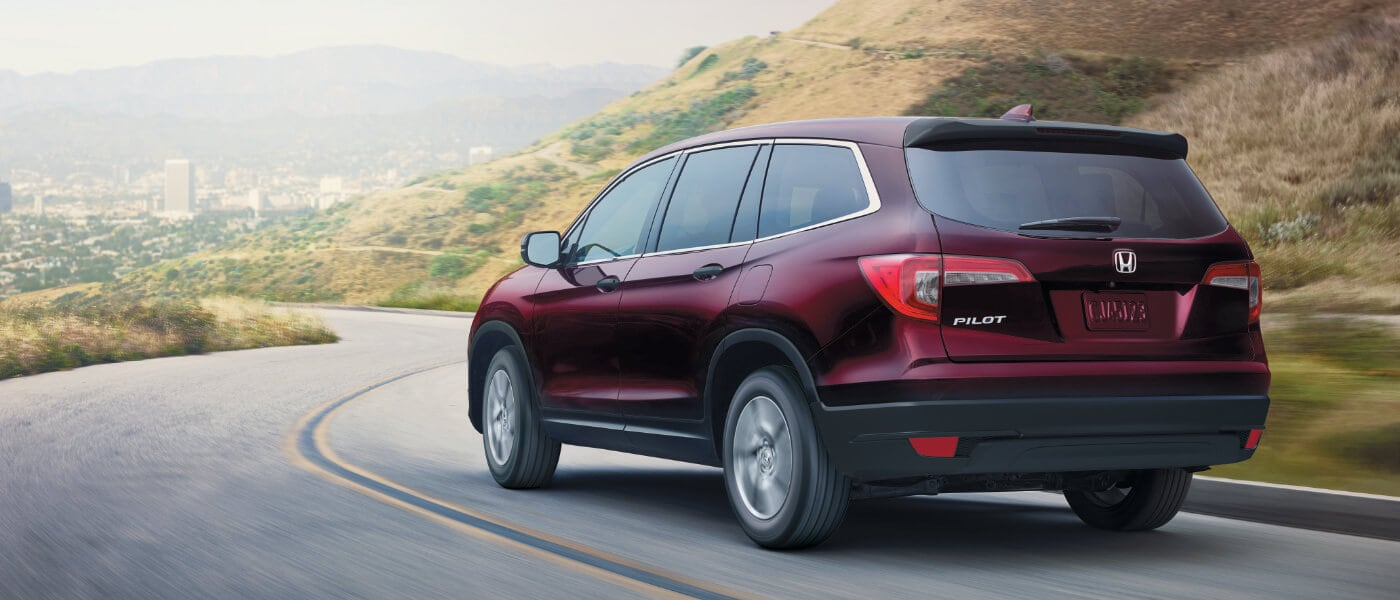 New Red 2020 Honda Pilot on road