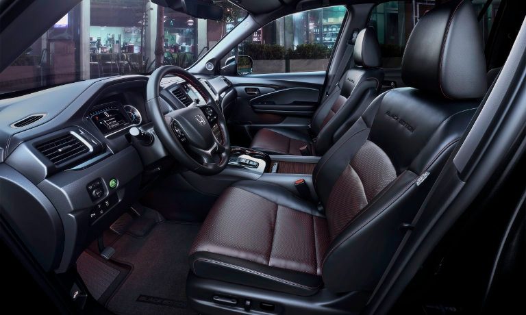 2021 Honda Pilot interior front side black edition