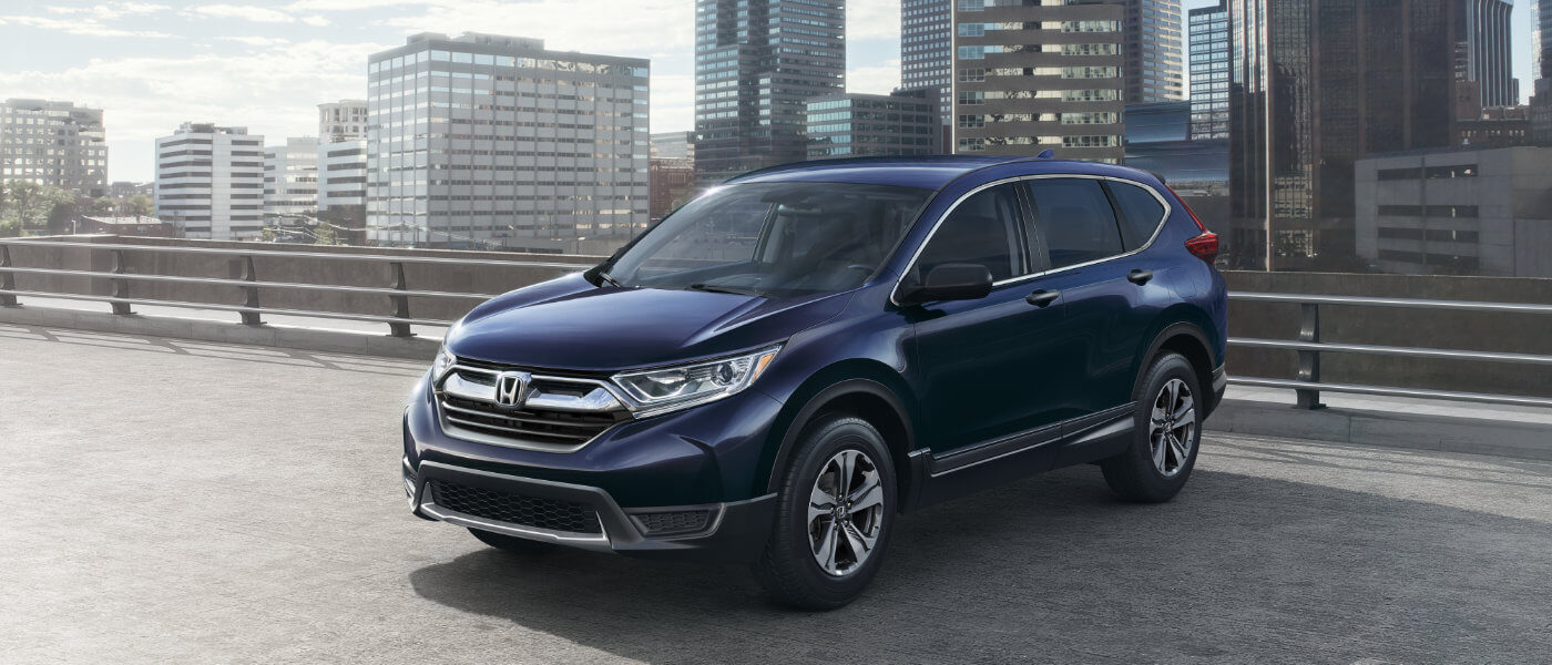 New 2019 Honda CR-V in parking lot