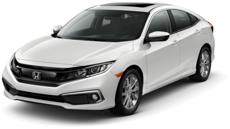 2019 Honda Civic EX - White