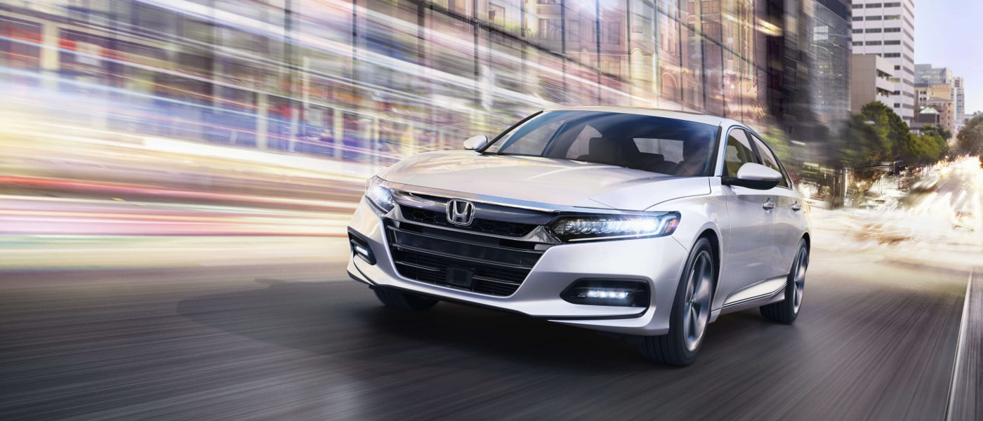 New Silver 2019 Honda Accord on road