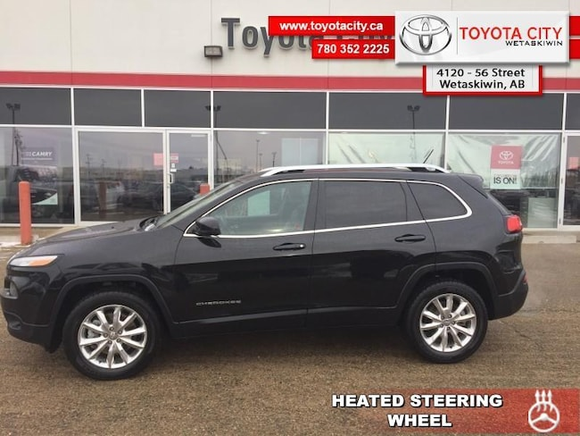 2014 Jeep Cherokee Limited - Leather Seats -  Bluetooth - $137.93 B/W SUV [] 271HP V6 Cylinder Engine