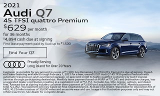 January 2021 Audi Q7 45 TFSI quattro Premium Offer