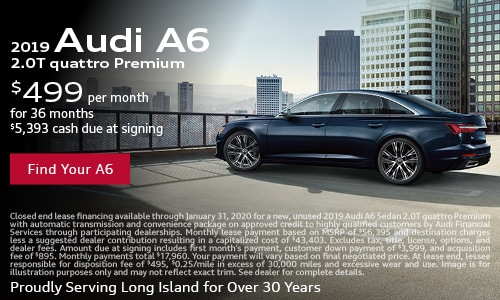 January Audi A6 Lease Offer