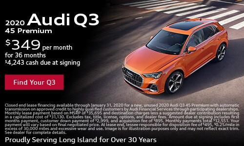 January Audi Q3 Lease Offer