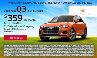 August Audi Q3 Offer
