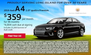 August Audi A4 Offer