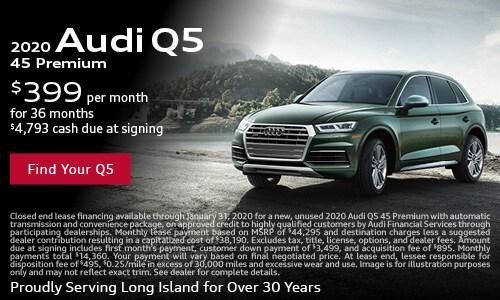 January Audi Q5 Lease Offer