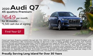July Audi Q7 Lease Offer