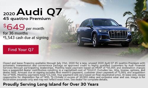 July Audi Q7 Lease Offer