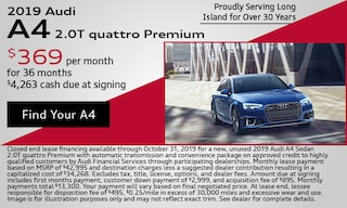 October 2019 Audi A4 Lease Offer