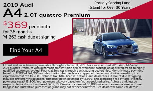 October 2019 Audi A4 Lease Offer