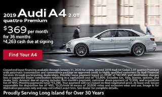 January Audi A4 Lease Offer