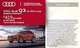 2021 Audi Q3 45 TFSI S line quattro Premium- April Offer