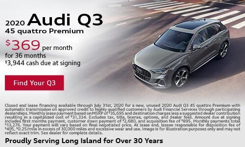 July Audi Q3 Lease Offer