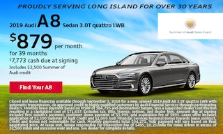 August Audi A8 Offer