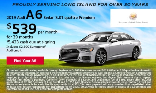 August Audi A6 Offer