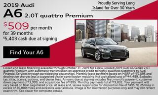 October 2019 Audi A6 Lease Offer