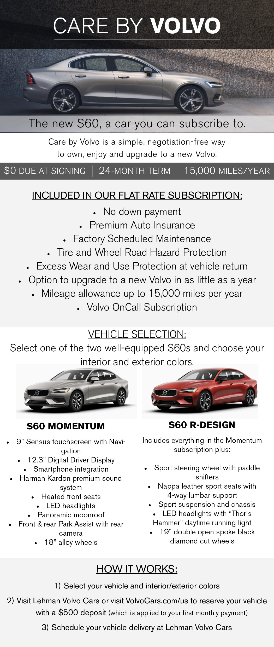 S60 Care By Volvo Lehman Volvo Cars Of York