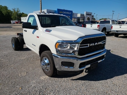 Featured new 2021 Ram 3500 Chassis Cab 3500 TRADESMAN CHASSIS REGULAR CAB 4X4 60 CA Regular Cab for sale in Fairfield, IL