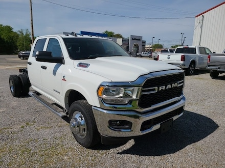 Featured new 2021 Ram 3500 Chassis Cab 3500 TRADESMAN CREW CAB CHASSIS 4X4 60 CA Crew Cab for sale in Fairfield, IL