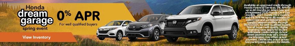 Honda Dream Garage Spring Event - 0% APR