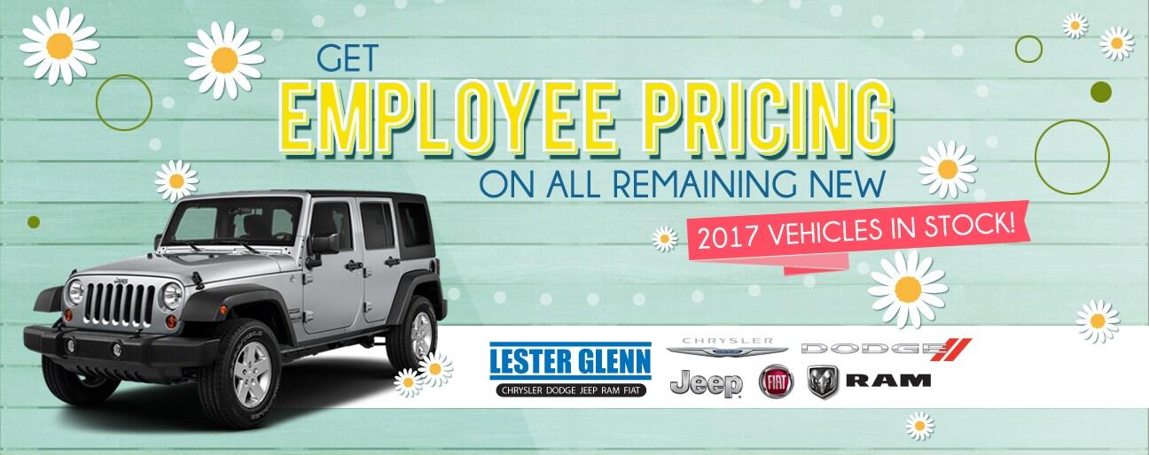 Lester Glenn Jeep >> Lester Glenn Chrysler Dodge Jeep RAM FIAT Employee Pricing ...