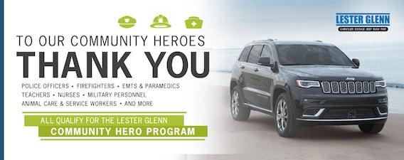 Lester Glenn Jeep >> Lester Glenn Thanks Our Community Heroes Lester Glenn
