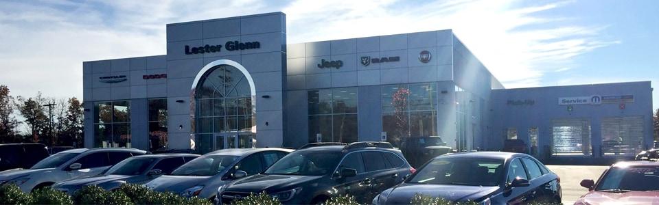 lester glenn chrysler dodge jeep ram fiat's new service center