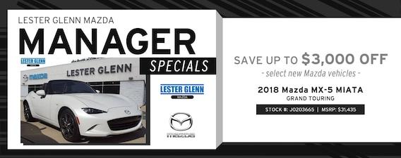 Lester Glenn Mazda >> Lester Glenn Mazda Manager Specials Lester Glenn Mazda
