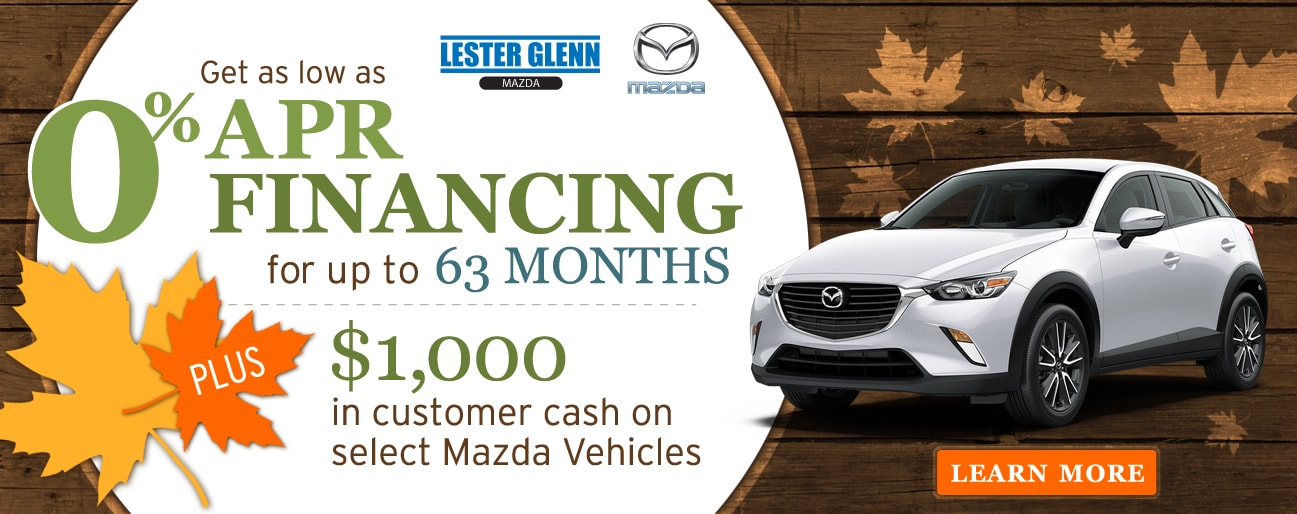 Marvelous Get As Low As 0% APR Financing At Lester Glenn Mazda