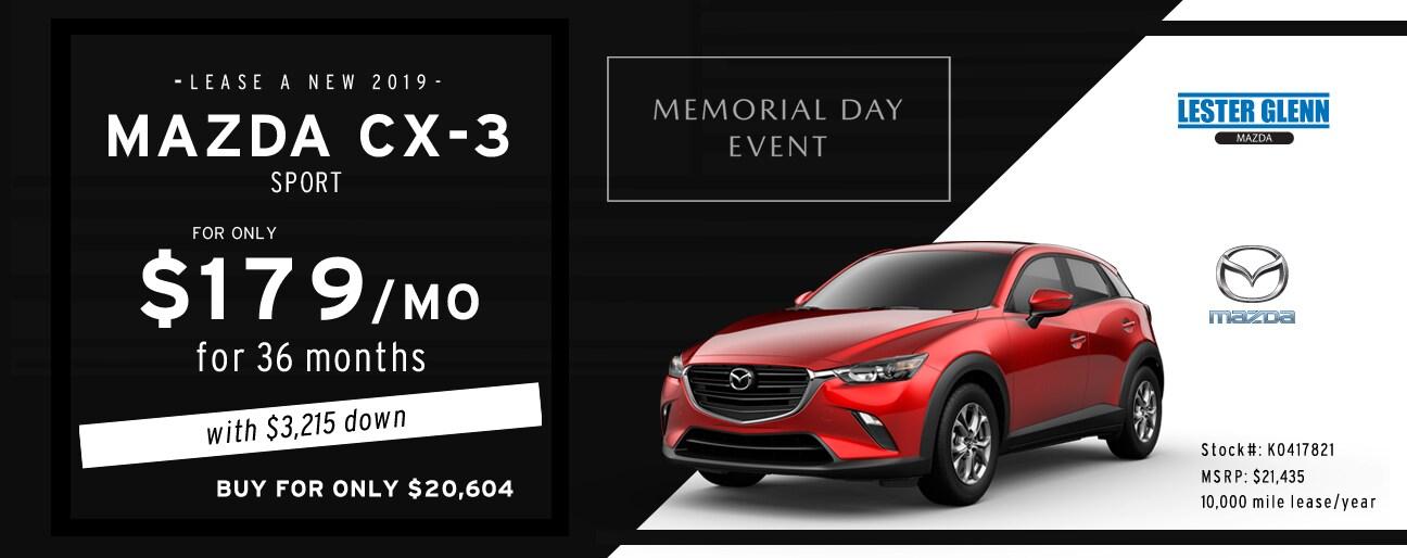 Mazda Cx 3 Lease >> Lester Glenn Mazda 2019 Mazda Cx 3 Specials Lester Glenn Mazda