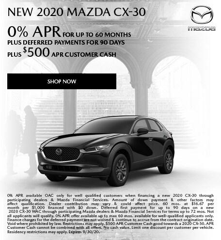 September   2020 Mazda CX-30
