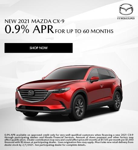 January - 2021 Mazda CX-9