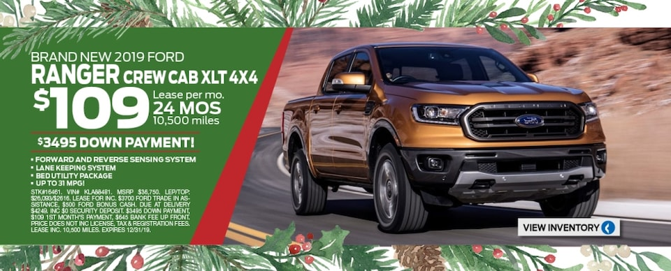 Ranger Specials page dec 2019