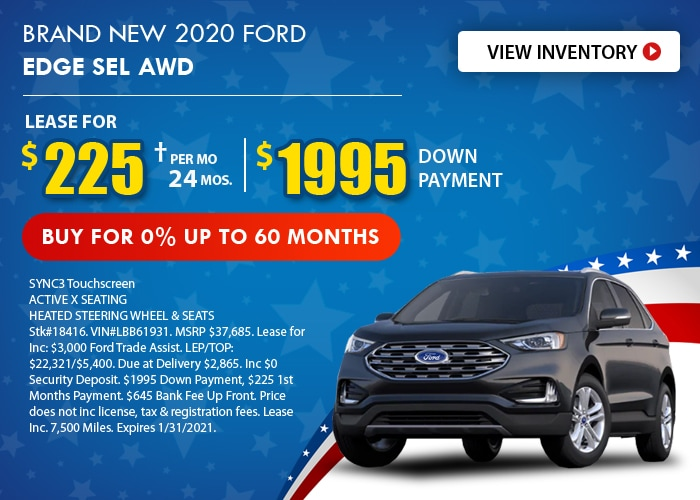 Ford Edge Deal - January 2021