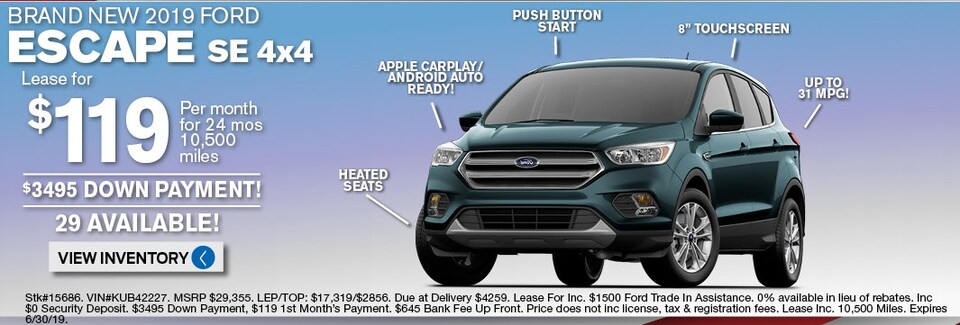 Ford Escape Lease Deals and Sale June 2019