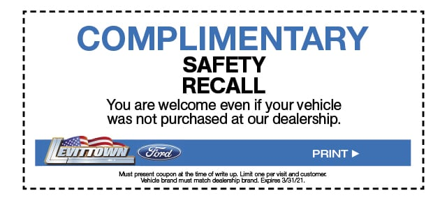Complimentary Safety Recall Special