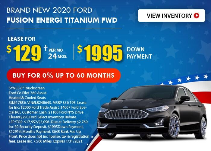 Ford Fusion Energi Deal - January 2021