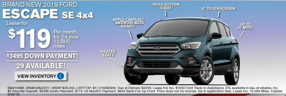 Ford Escape Lease Deals and Sale