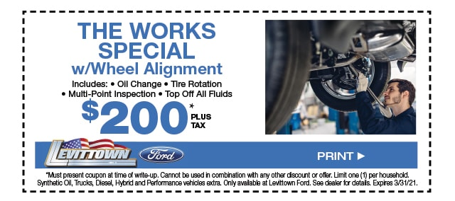 The Works Special W/ Wheel Alignment