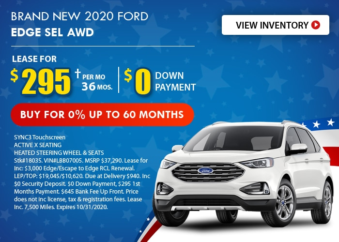 Ford Edge Deal - October 2020