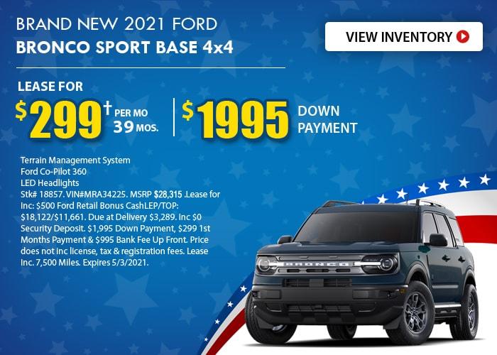 Ford Bronco Sport Deal - April 2021