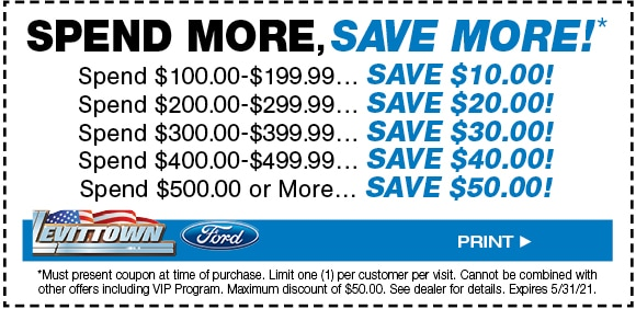 Spend More, Save More Coupon Special - May 2021