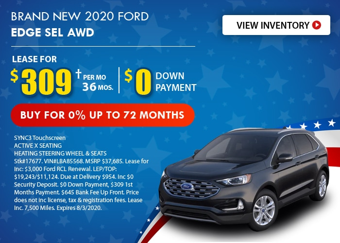 Ford Edge Deal - July 2020