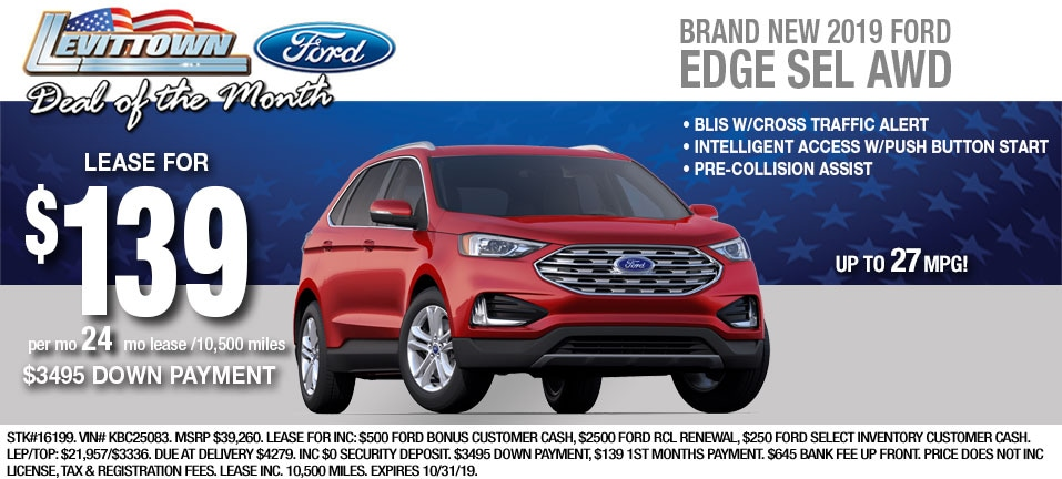 Ford Edge Oct 2019