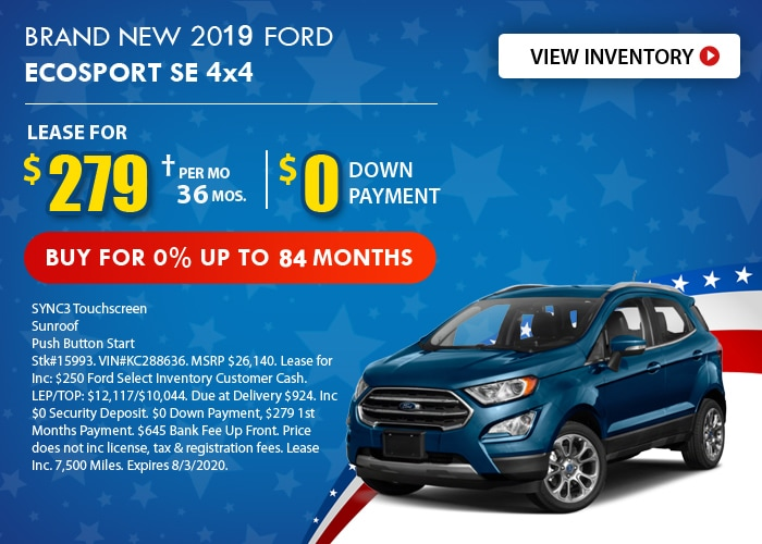 Ford EcoSport Deal - July 2020