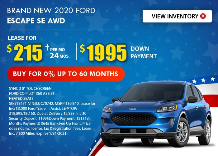 Ford Escape Deal - January 2021