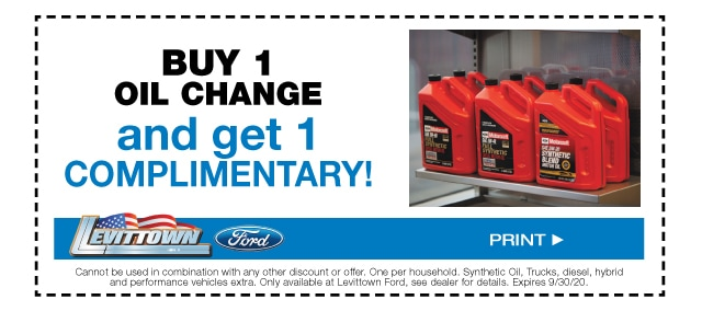 Buy 1 Oil Change Get 1 Complimentary