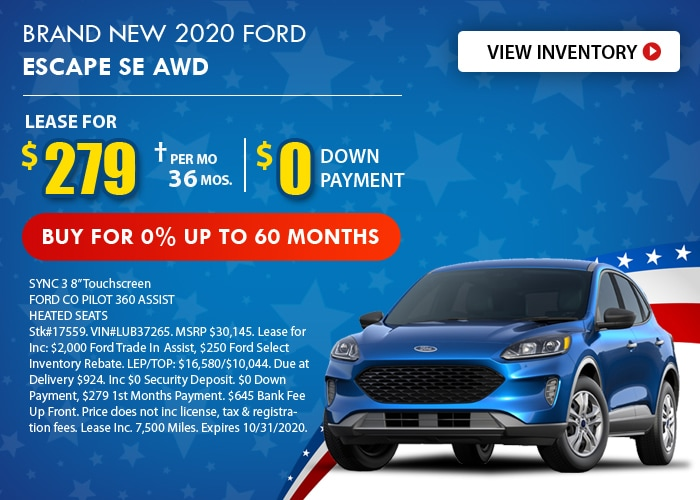 Ford Escape Deal - October 2020